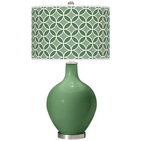 Garden Grove Circle Rings Ovo Table Lamp