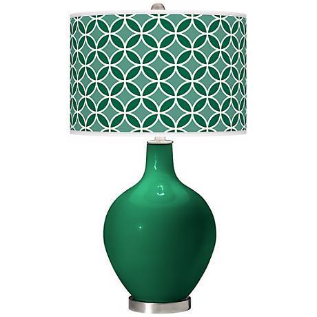 Greens Circle Rings Ovo Table Lamp
