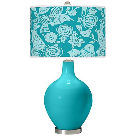 Surfer Blue Aviary Ovo Table Lamp