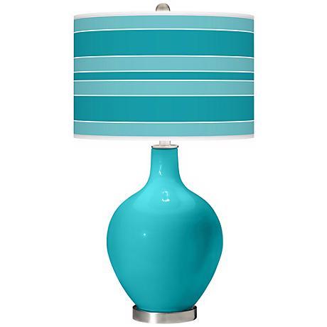 Surfer Blue Bold Stripe Ovo Table Lamp