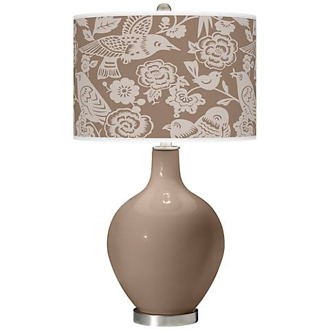 Mocha Aviary Ovo Table Lamp