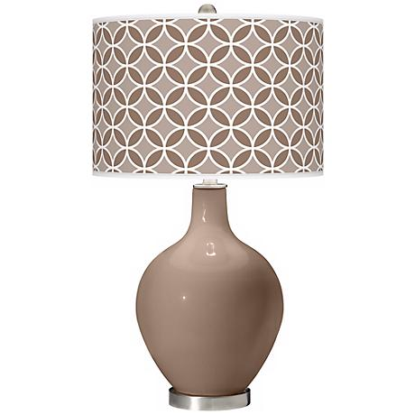 Mocha Circle Rings Ovo Table Lamp