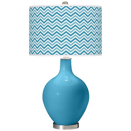 Jamaica Bay Narrow Zig Zag Ovo Table Lamp