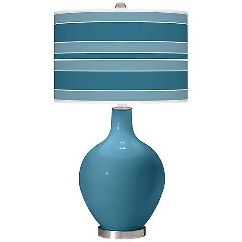 Great Falls Bold Stripe Ovo Table Lamp