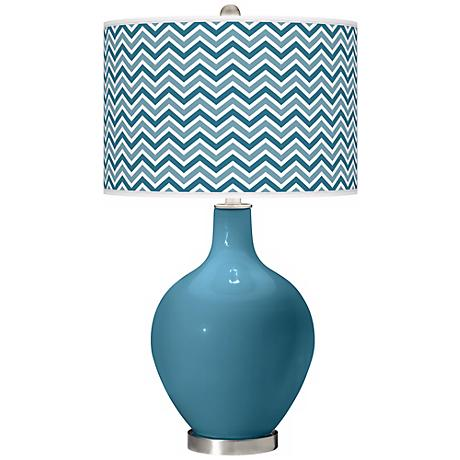 Great Falls Narrow Zig Zag Ovo Table Lamp
