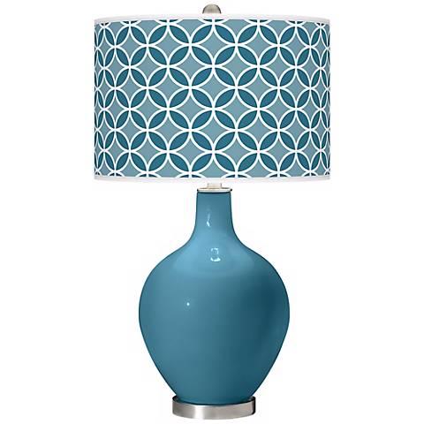 Great Falls Circle Rings Ovo Table Lamp