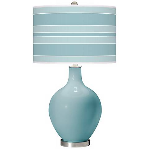 Raindrop Bold Stripe Ovo Table Lamp