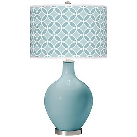 Raindrop Circle Rings Ovo Table Lamp
