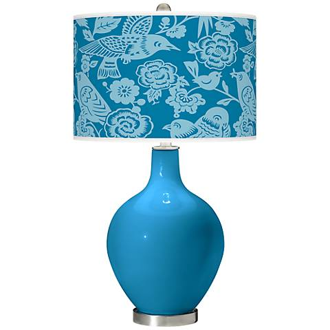 River Blue Aviary Ovo Table Lamp