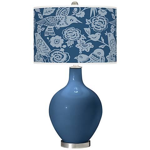 Regatta Blue Aviary Ovo Table Lamp