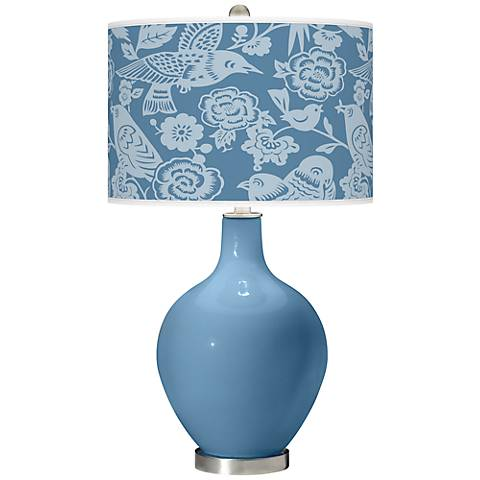 Secure Blue Aviary Ovo Table Lamp