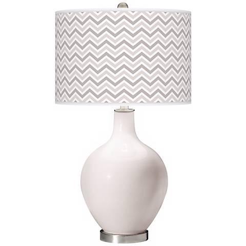Smart White Narrow Zig Zag Ovo Table Lamp