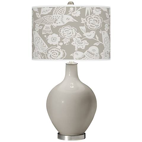 Requisite Gray Aviary Ovo Table Lamp