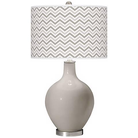 Requisite Gray Narrow Zig Zag Ovo Table Lamp