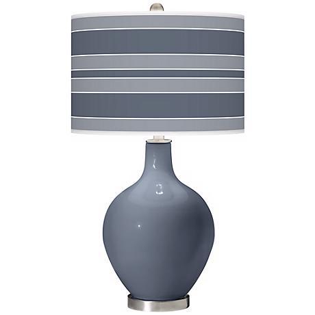 Granite Peak Bold Stripe Ovo Table Lamp