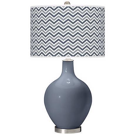Granite Peak Narrow Zig Zag Ovo Table Lamp