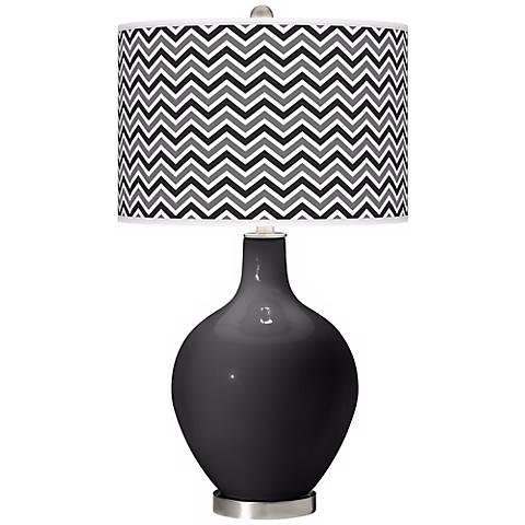 Tricorn Black Narrow Zig Zag Ovo Table Lamp
