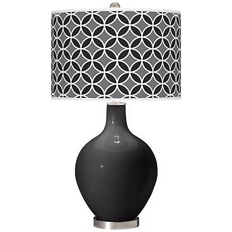 Tricorn Black Circle Rings Ovo Table Lamp