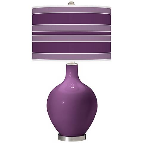 Kimono Violet Bold Stripe Ovo Table Lamp