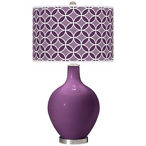 Kimono Violet Circle Rings Ovo Table Lamp