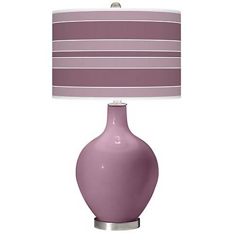 Plum Dandy Bold Stripe Ovo Table Lamp