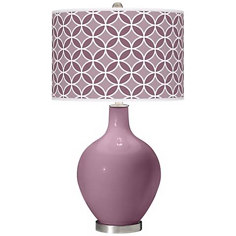 Plum Dandy Circle Rings Ovo Table Lamp