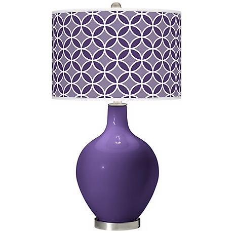 Izmir Purple Circle Rings Ovo Table Lamp