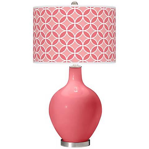 Rose Circle Rings Ovo Table Lamp