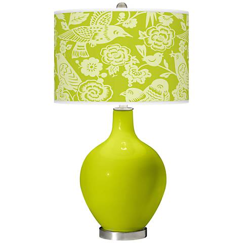 Pastel Green Aviary Ovo Table Lamp