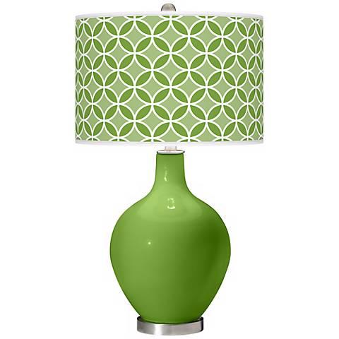 Rosemary Green Circle Rings Ovo Table Lamp