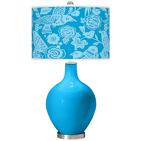 Sky Blue Aviary Ovo Table Lamp