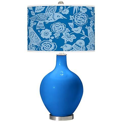 Royal Blue Aviary Ovo Table Lamp