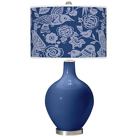 Monaco Blue Aviary Ovo Table Lamp