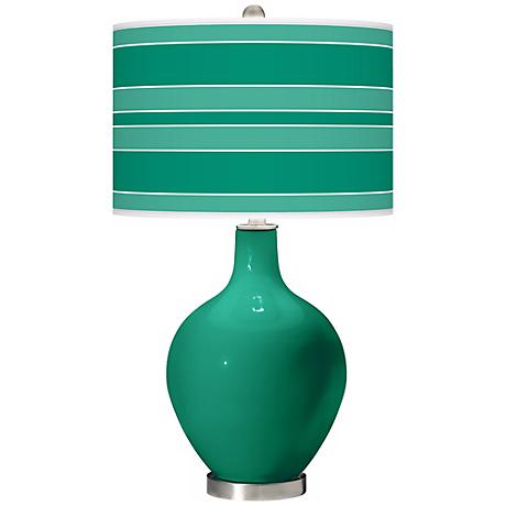 Leaf Bold Stripe Ovo Table Lamp
