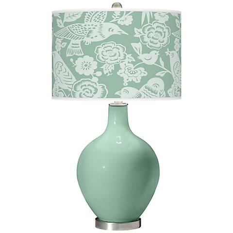 Grayed Jade Aviary Ovo Table Lamp