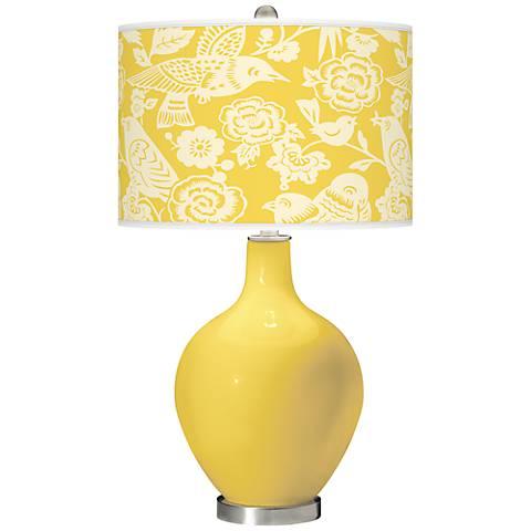 Lemon Zest Aviary Ovo Table Lamp