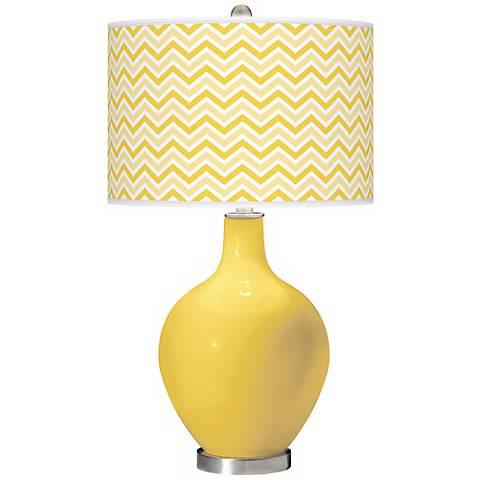Lemon Zest Narrow Zig Zag Ovo Table Lamp