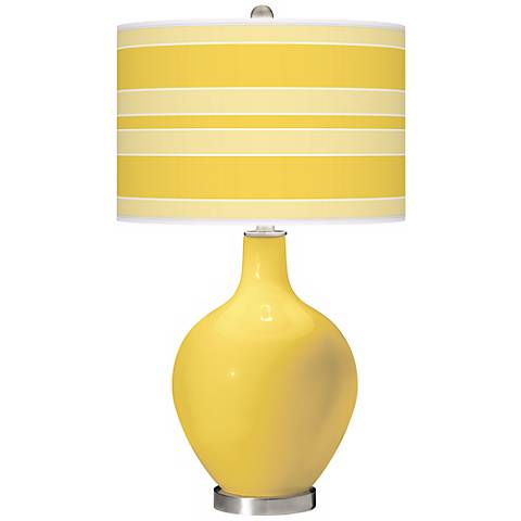 Lemon Zest Bold Stripe Ovo Table Lamp