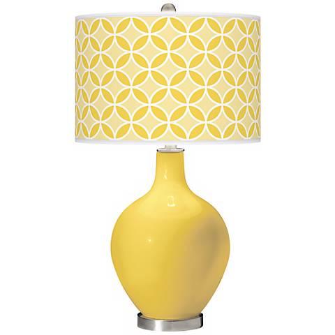 Lemon Zest Circle Rings Ovo Table Lamp