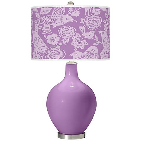 African Violet Aviary Ovo Table Lamp