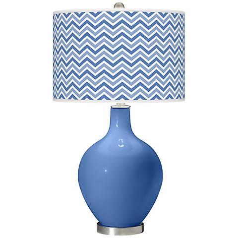 Dazzle Narrow Zig Zag Ovo Table Lamp