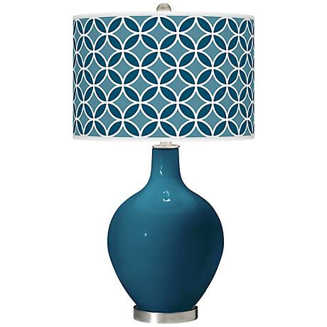 Oceanside Circle Rings Ovo Table Lamp