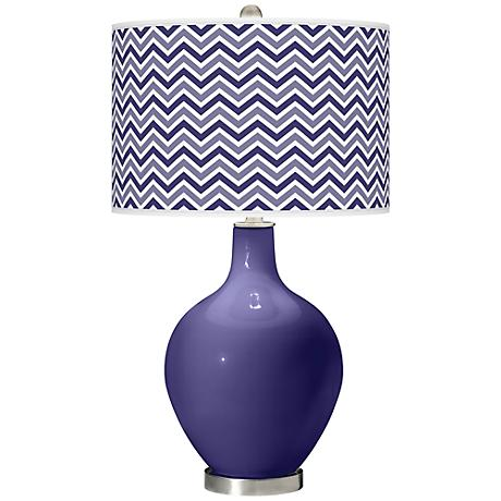 Valiant Violet Narrow Zig Zag Ovo Table Lamp