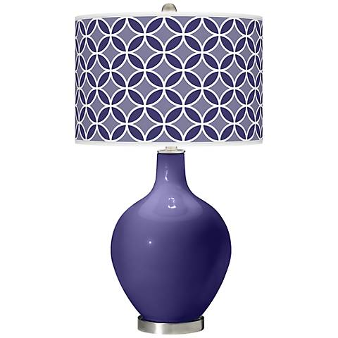 Valiant Violet Circle Rings Ovo Table Lamp