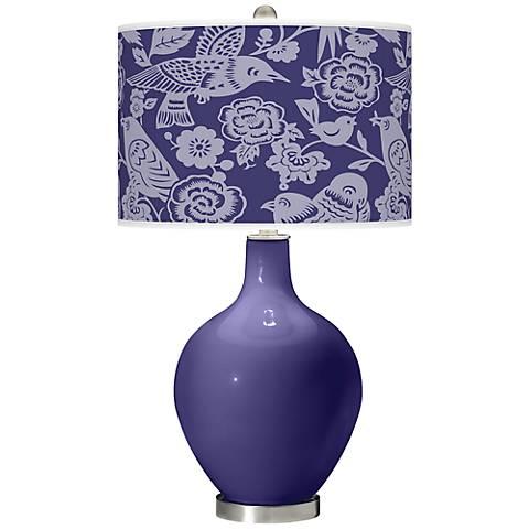 Valiant Violet Aviary Ovo Table Lamp
