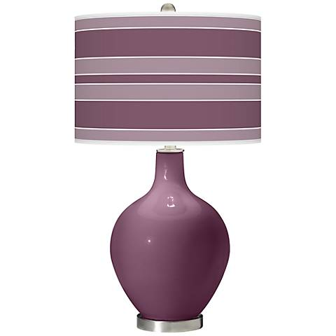 Grape Harvest Bold Stripe Ovo Table Lamp
