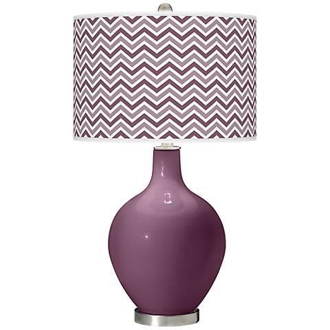 Grape Harvest Narrow Zig Zag Ovo Table Lamp