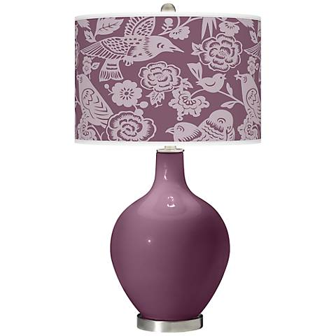 Grape Harvest Aviary Ovo Table Lamp