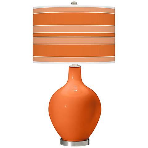 Invigorate Bold Stripe Ovo Table Lamp