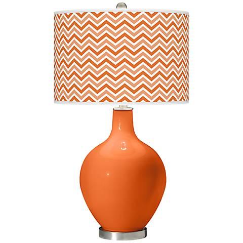 Invigorate Narrow Zig Zag Ovo Table Lamp